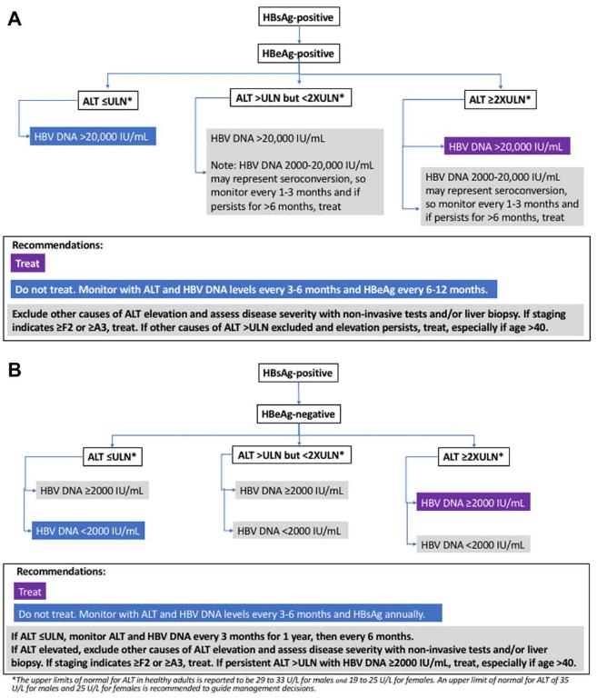 Algoritme tatalaksana pasien dengan HBsAg positif