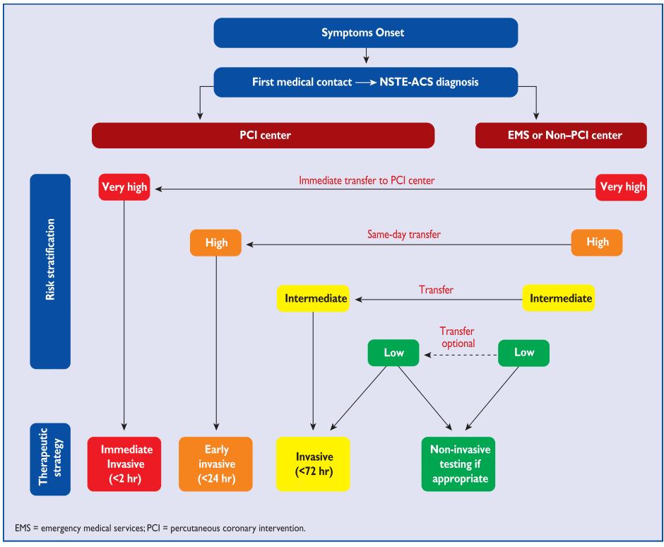 Alur tatalaksana ACS UAP dan NSTEMI