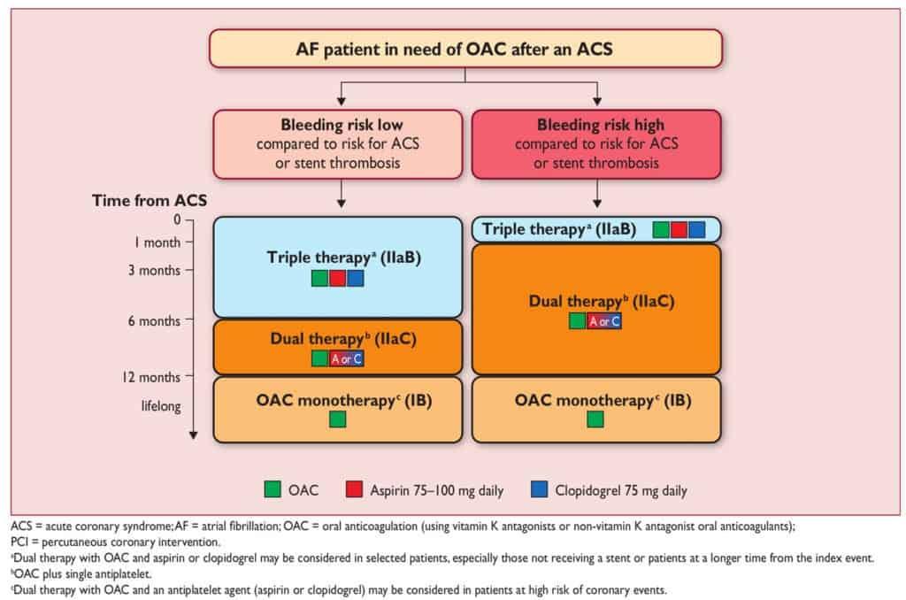 Antiplatelet dan antikoagulan pasien AF yang terkena ACS