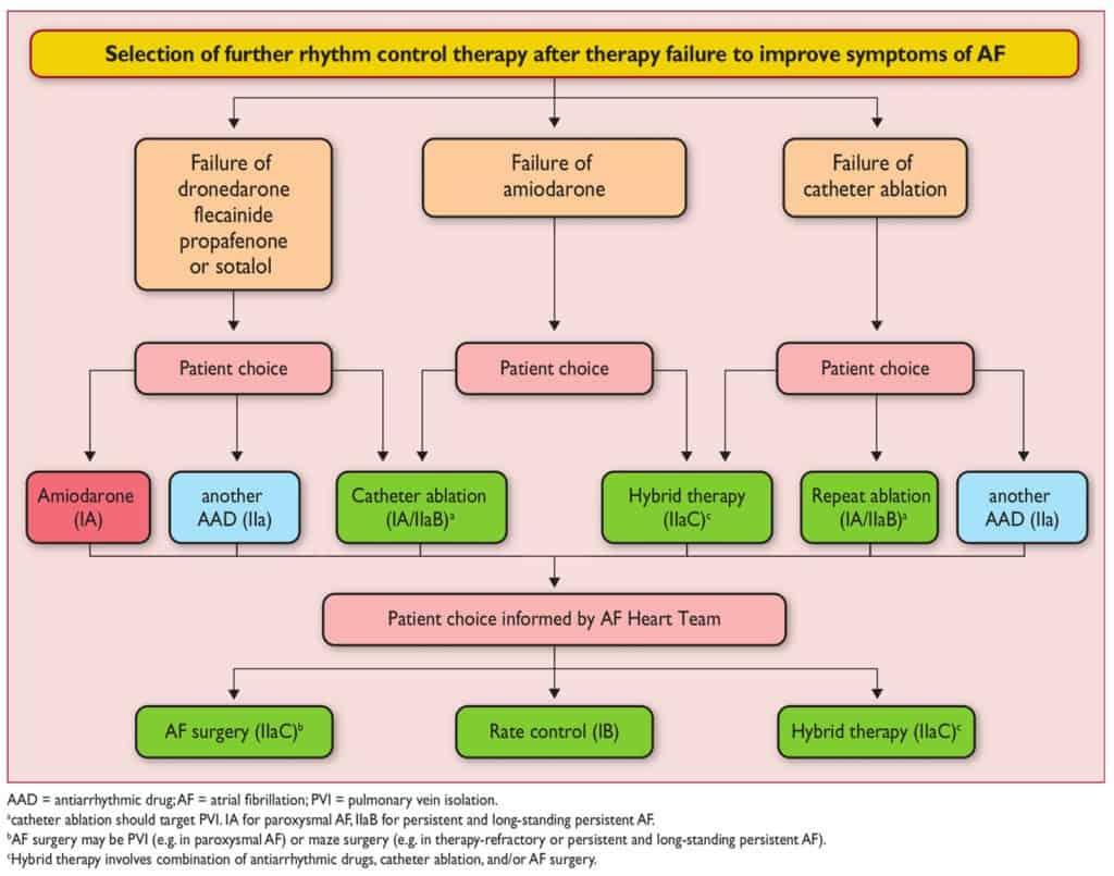 Pilihan terapi ketika control rhythm gagal memperbaiki gejala atrial fibrilasi