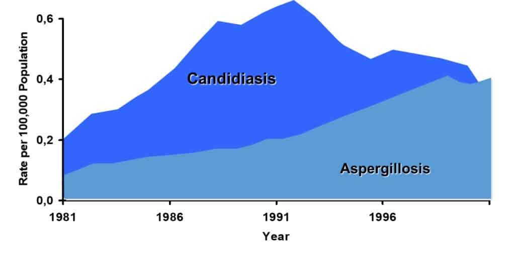 Trend penyebab infeksi jamur invasif