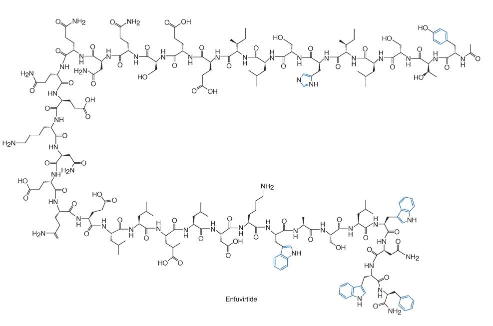 Struktur molekul enfuvirtide