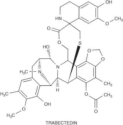 Gambar struktur molekul trabectedin