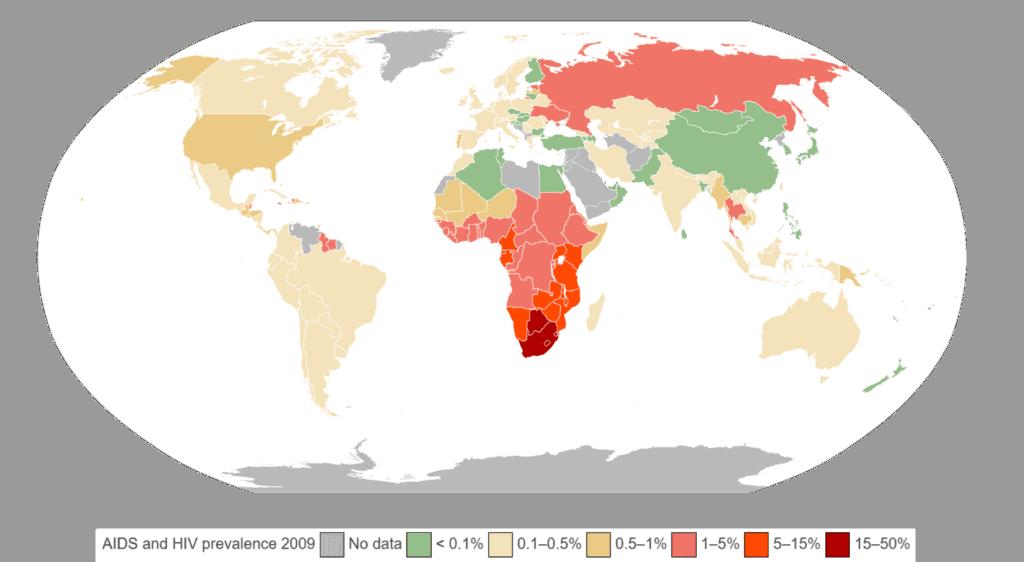 Data epidemi HIV dan AIDS tahun 2009