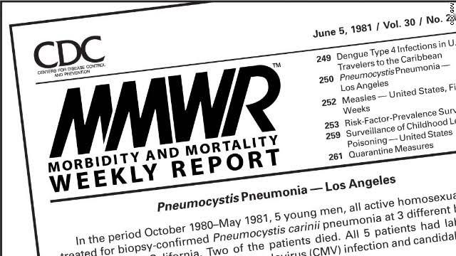 Laporan pertama CDC tentang kasus AIDS