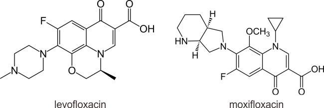 Struktur levofloxacin dan moxifloxacin