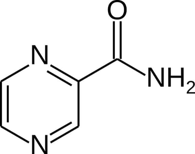 Gambar molekul pyrazinamide