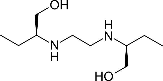 Struktur molekul ethambutol