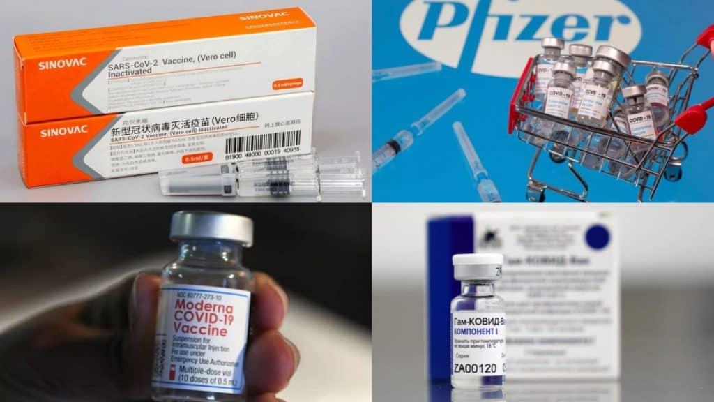 Beberapa merek atau jenis vaksin Covid-19.