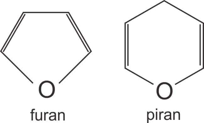 Struktur cincin furan dan piran