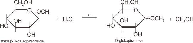 Reaksi hidrolisis glikosida menjadi bentuk-bentuk hemiasetal