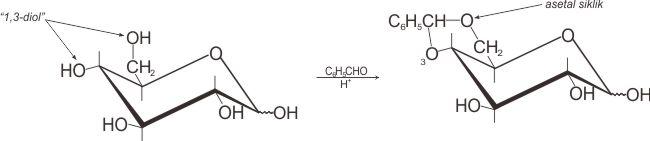 Reaksi 1,3-diol dengan aldehida