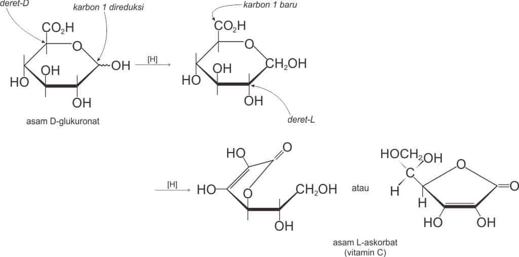 Reaksi pembentukan asam L-askorbat (vitamin C)