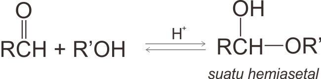 Reaksi pembentukan hemiasetal