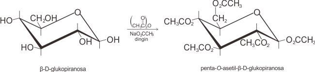 Reaksi pembentukan pentaasetat