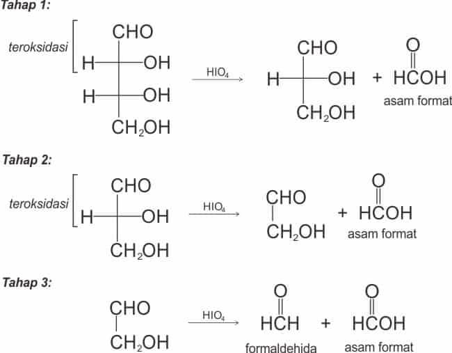 Tahapan oksidasi eritrosa menjadi formaldehida dan 3 asam format