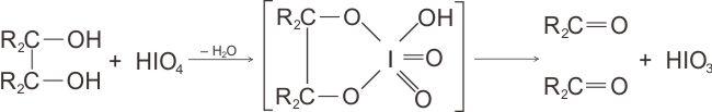 Zat antarasiklik pada reaksi asam periodat